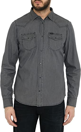 Diesel 0WAIB Camisa, Gris (2), S para Hombre: Amazon.es ...