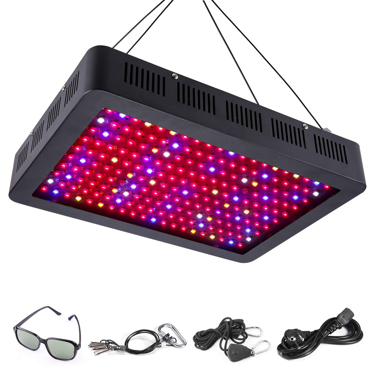 Elejolie 2000W LED Grow Light for Indoor Plants Full Spectrum Grow Lamp for Greenhouse Plant Light for Vegetables and Flowers by Elejolie