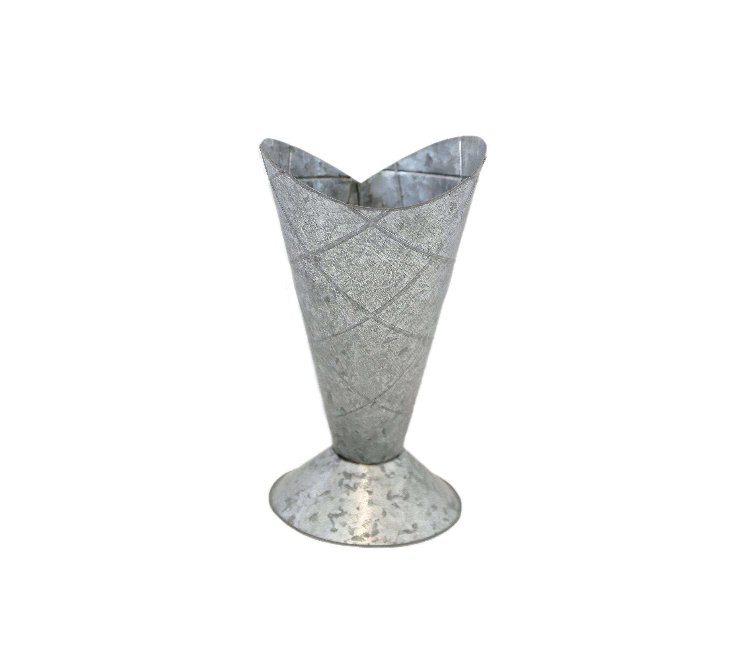 Medium Weathered Look Ice Cream Cone Vase