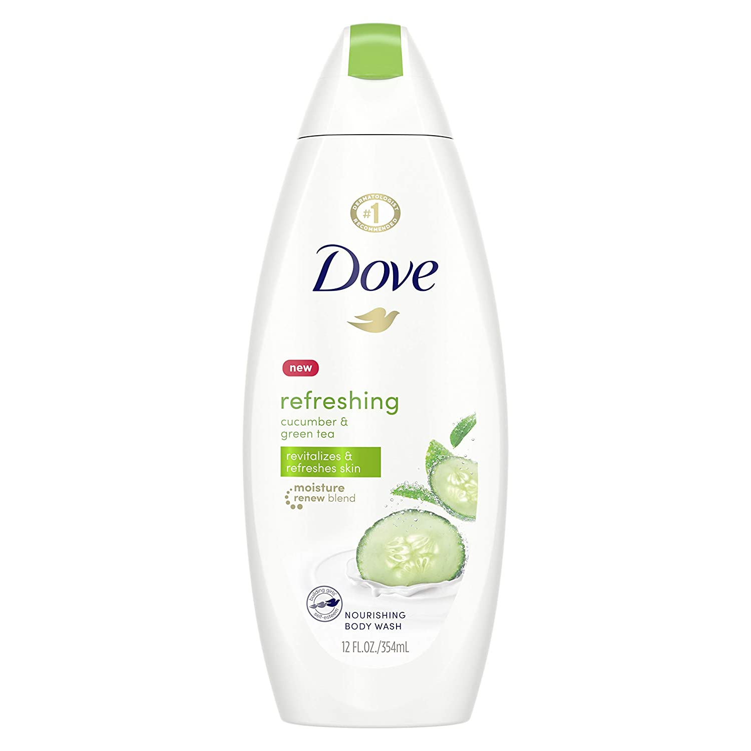Amazon Com Dove Go Fresh Body Wash Cucumber And Green Tea 12 Fl Oz 1 Count Bath And Shower Gels Beauty
