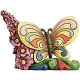 Enesco Jim Shore Heartwood Creek Mini Butterfly Figurine, 2.375-Inch