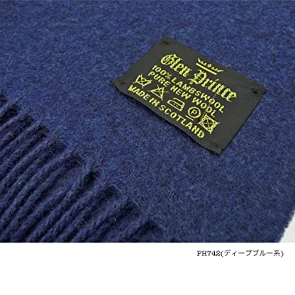Glen Prince Lambswool Scarf: Deep Blue