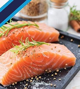 Ocean's Finest Seafood - Atlantic Salmon - Natural Premium Fillets, 6 oz / 8 portions (3lb)