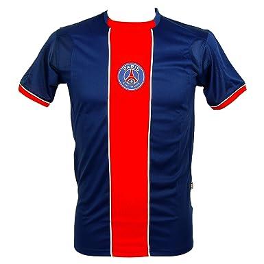 PSG Paris Saint-Germain - Camiseta Deportiva - Manga Corta - para Hombre Azul Blue