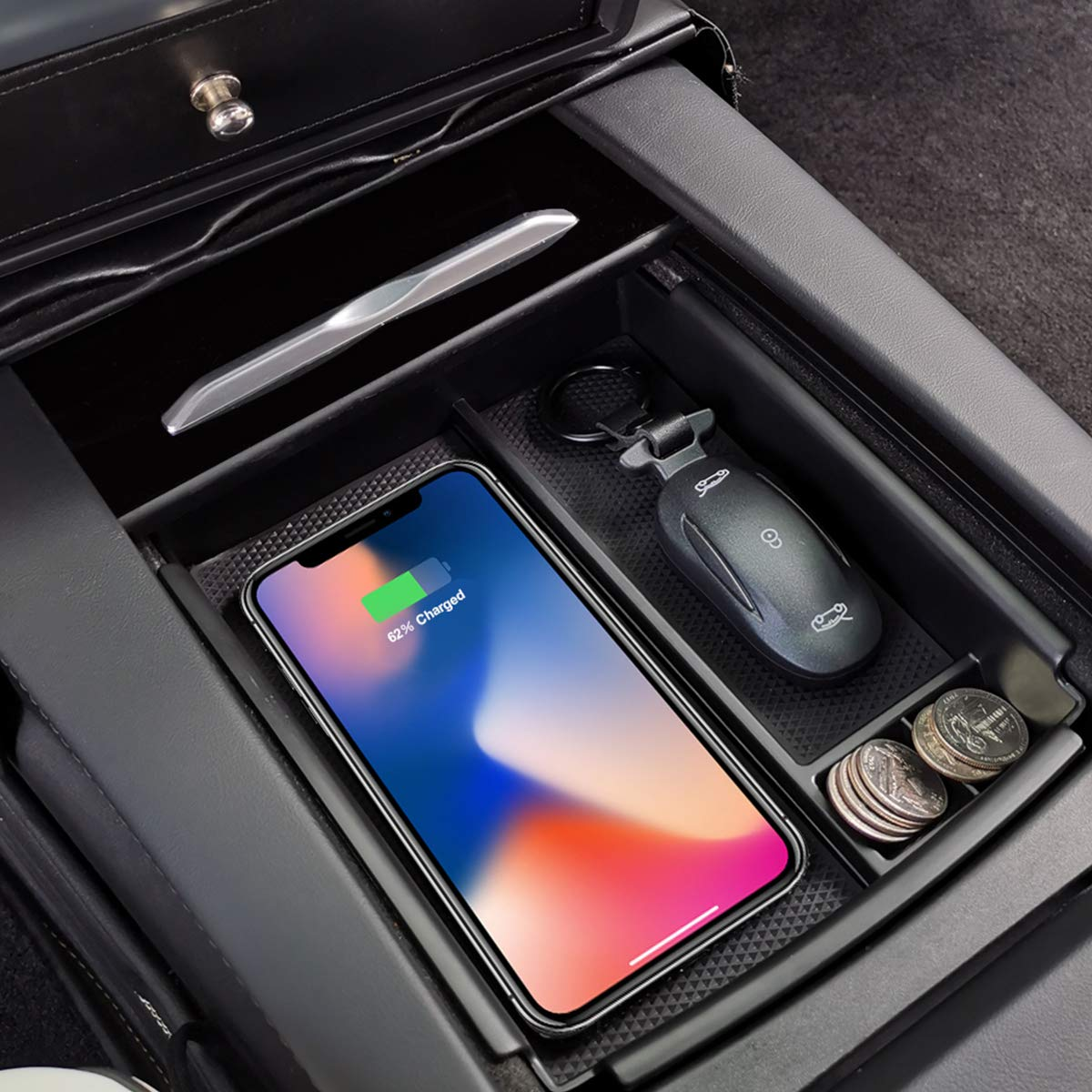 LFOTPP Custom Fit for Ford Escape/2020 Car Center Console Organizer Tray Glove Box Sunglasses Holder,Car Accessories Secondary Storage Box
