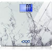 iDOO High Precision Digital Bathroom Weight Scale 440 Pound Capacity, Ultra Wide Heavy-Duty Platform with Elegant Marble…