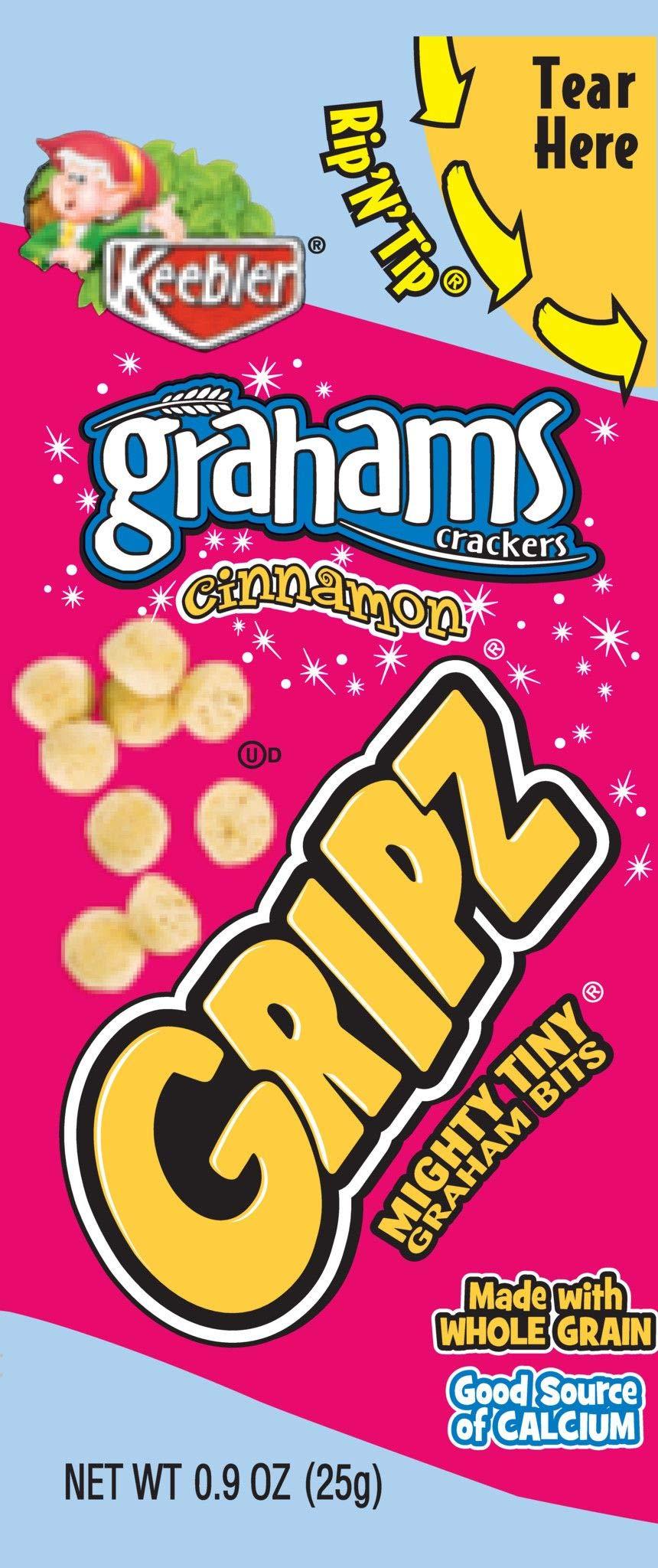 Keebler Grahams, Crackers, Gripz, Cinnamon, Bulk Size, 135 oz (Pack of 150, .9 oz Pouches)