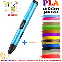 3D Pen, Professional 3D Printing Pen with OLED Display for Kids,Doodling Art Craft Making,Adults,Girls,Artists,Doodling,Teens, Printing 1.75mm PLA/ABS Filament Refills