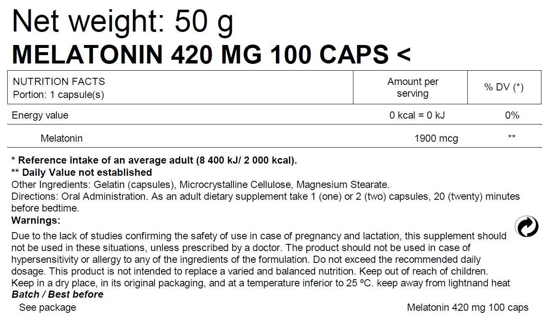 Bodyraise Melatonina - 100 Cápsulas