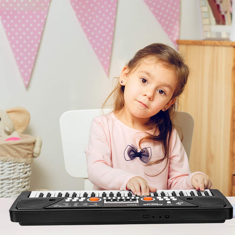 Teclado para Ni/ños m zimoon Ni/ños Teclado de Piano Teclado Electr/ónico Port/átil de 49 Teclas Instrumento Musical Piano con Microfono para Ni/ños Principiante Ni/ños y Ni/ñas