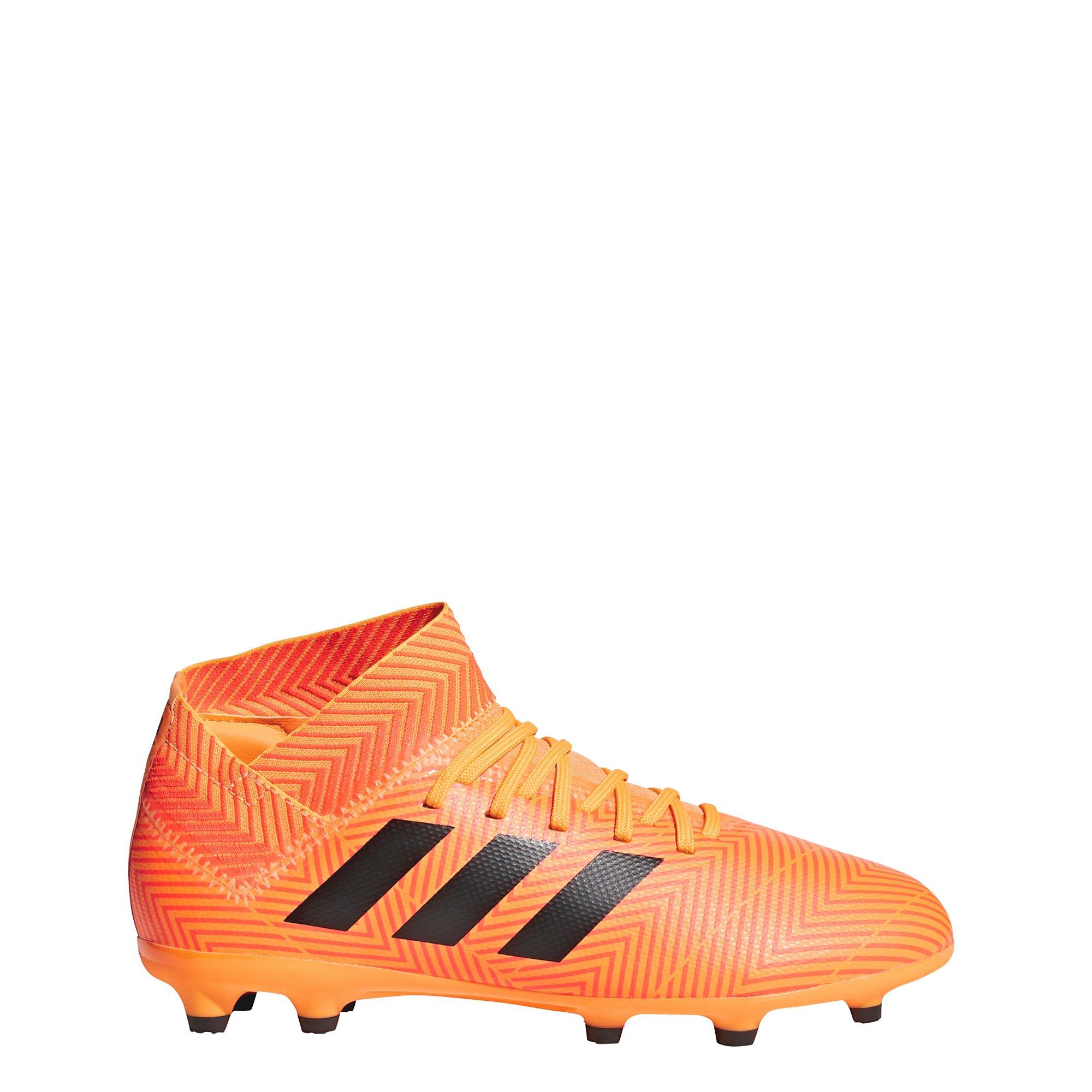 adidas Unisex-Kids Nemeziz 18.3 FG J Soccer Shoe, Zest/Core Black/Solar Red, 3 M US Big Kid