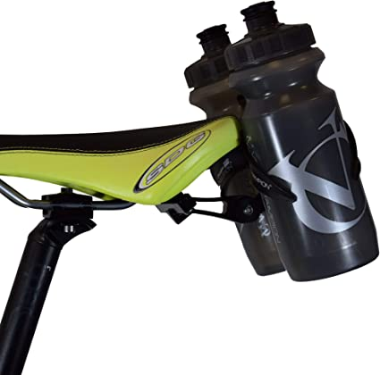 New More//On Double Bottle cage mounting bracket//adapter helps clear tight frames