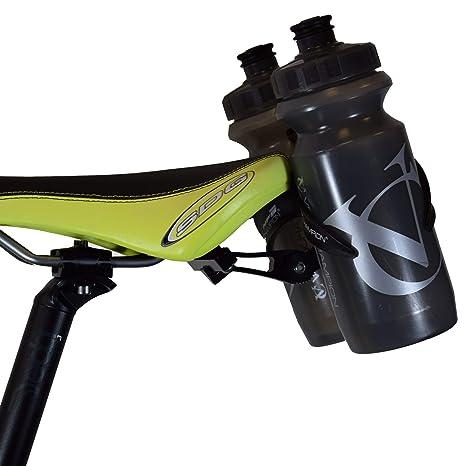 6f391c1cb0 Amazon.com : VeloChampion Double Water Bottle Cage Mount - Alloy Black for  Cycling Triathlon Bike : Sports & Outdoors