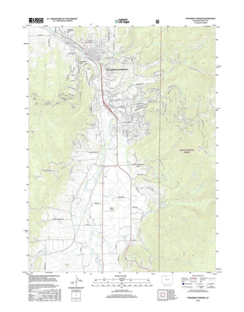 Amazon Com Patriotgearcompany Framed Topo Map Steamboat Springs