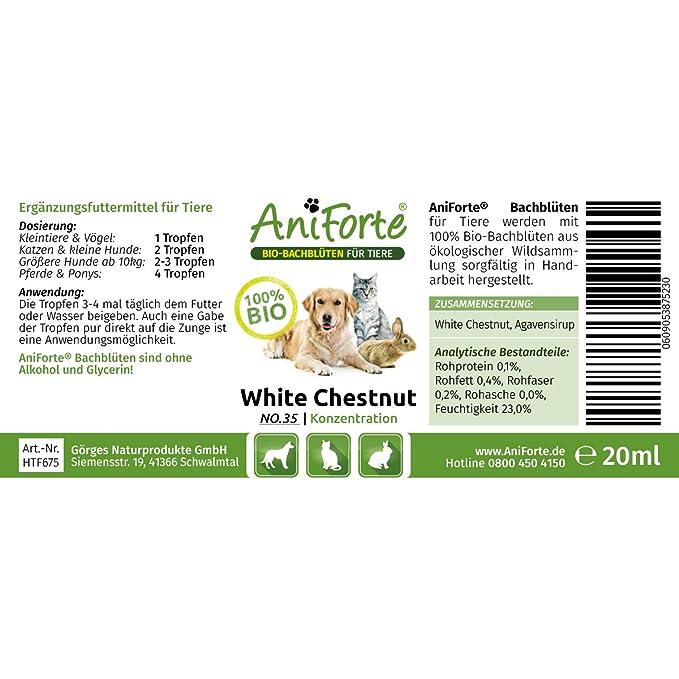 AniForte® Bachblüten 20ml White Chestnut - mentale Anspannung ...