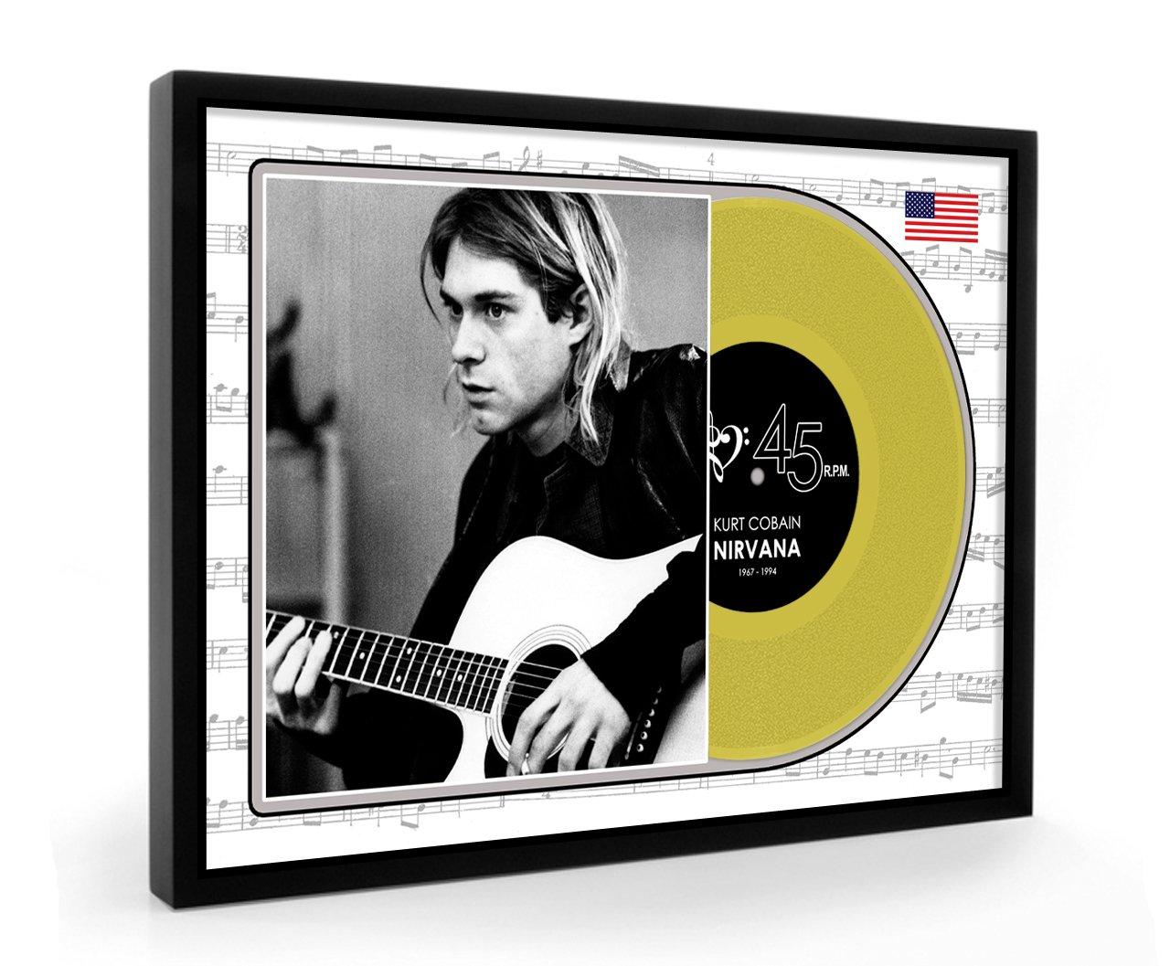 Kurt Cobain Nirvana Framed Goldene Schallplatte Display Premium ...