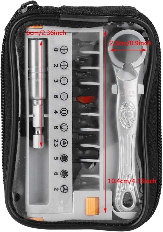 104pcs /¼ /& /½ Socket Wrench Set Screwdriver Tool Kit Ratchet Wrench Sets for Auto Repairing Household with Carry Case