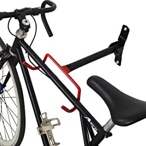 Wall Mount Bike Hanger, 2pcs Storage Rack for Holding Bicycle at Home & Garage Indoor, Space Saving Folding Desiged On Wall Holder, Heavy Duty upto 66lbs Capacity Loading