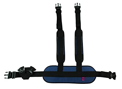 ubio 305020 cinturón abdominal acolchada para silla de ruedas con tirantes
