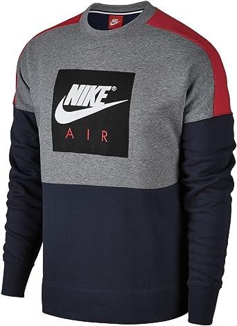 Aplicar Megalópolis Volverse  NIKE Sudadera Sportswear Air Negro/Rojo/Blanco Talla: M (Medium):  Amazon.es: Ropa y accesorios