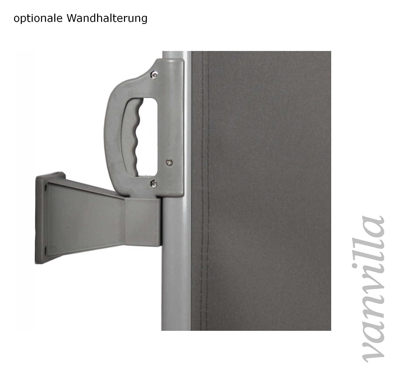 vanvilla Seitenmarkise Sichtschutz Sonnenschutz Windschutz Markise Seitenwand Beige 100x300 cm