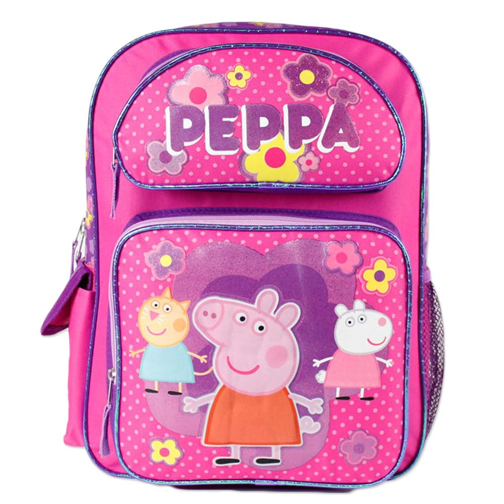 "Peppa Pig Large 16"" School Backpack(pink)"