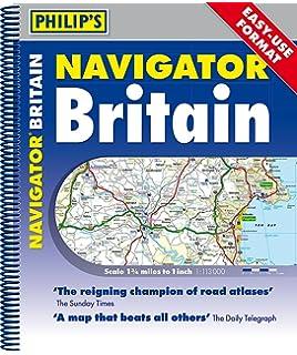 Philips navigator britain philips road atlases maps amazon philips 2018 navigator britain easy use format spiral philips navigator publicscrutiny Images