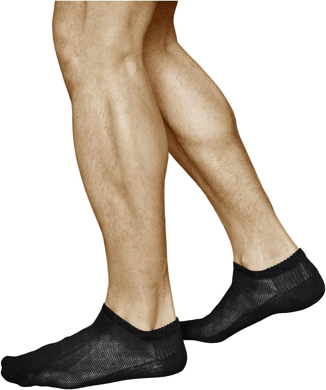 vitsocks Calcetines Verano Hombre BAMBÚ Muy Respirables Bajos (3 PARES) Efecto de Enfriamiento, Sneaker