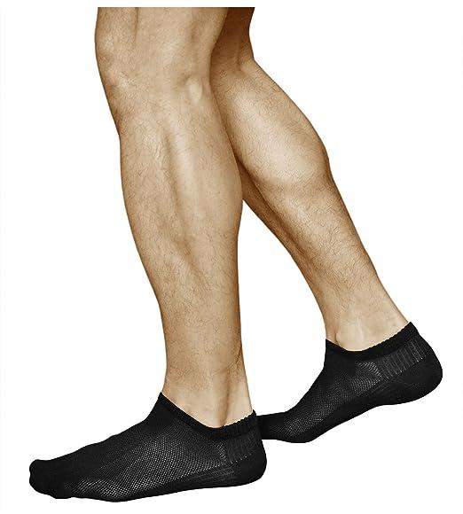 vitsocks Calcetines Verano Hombre BAMBÚ Muy Respirables Bajos (3 PARES) Efecto de Enfriamiento,