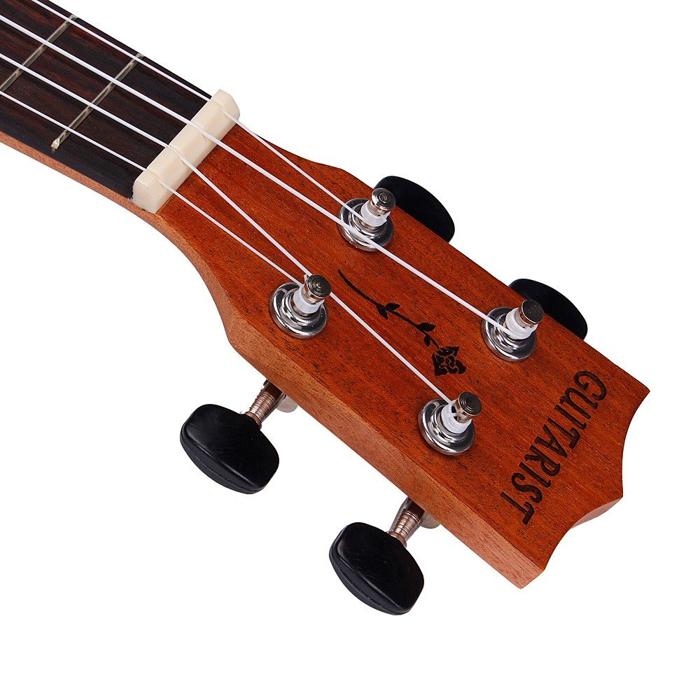 Iusun Musical Instrument Play Children's 21 Inch Soprano Ukulele Sapele 15 Frets Hawaiian Guitar Early Education Learning Enlightenment Developmental Gift - Ship from USA (Brown)