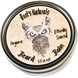 Hoot's Naturals Beard Balm, Extra Large 3.5oz Organic Beard Oil & Butter Recipe with No Added Fragrance - Leave-In Beard Softener & Conditioner, That Thickens, Strengthens & Styles Facial Hair Growth