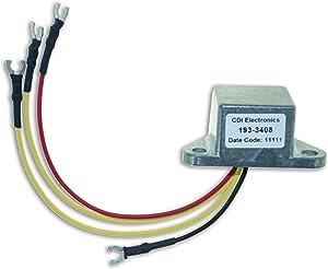 CDI Electronics 193-3408 Johnson/Evinrude Regulated Rectifier - 2/3/4/6 Cyl (1969-2000)