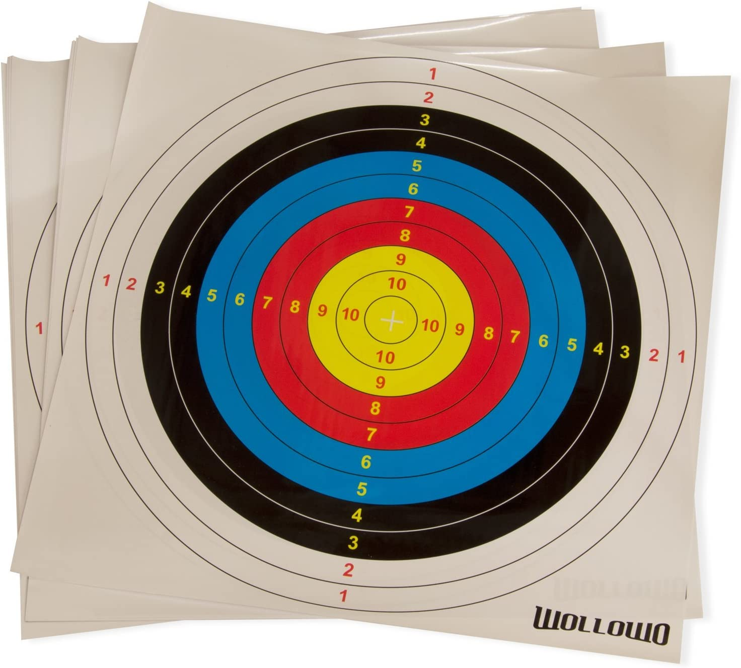 Wakauto 20Pcs Archery Target Face Archery Paper Useful Professional Targets Arrow Targets Shooting Accessories Ideal for Match and Daily Practice Use Outdoor Shooting Practice