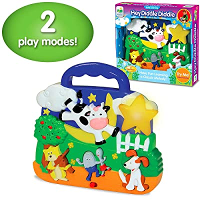 The Learning Journey Early Learning – Hey Diddle Diddle – Electronic Musical Baby Toys & Gifts for Boys & Girls Ages 12 Months and Up – Mind Building Musical Learning Toy: Toys & Games