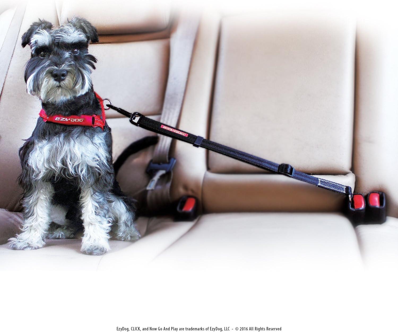 Ezydog Click Best Dog Sicherheitsgurt Auto Harness Befestigung Für Hunde Verstellbare Hundefesseln Sicherheitsgurte Für Autos 44 5 Cm 66 Cm Haustier