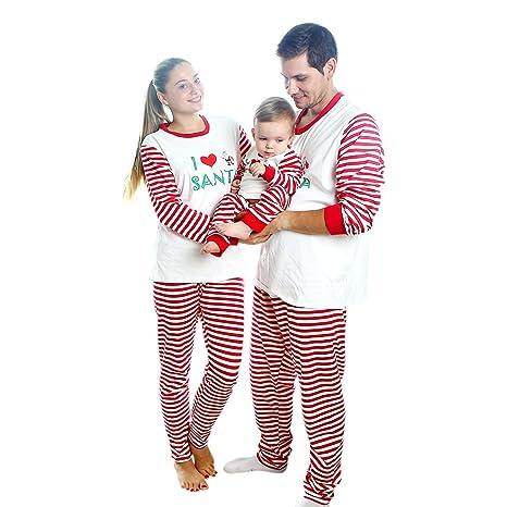 migliore selezione del 2019 ottenere a buon mercato immagini ufficiali Baywell Pigiama Natale Famiglia,Pigiama per Natale in Cotone ...