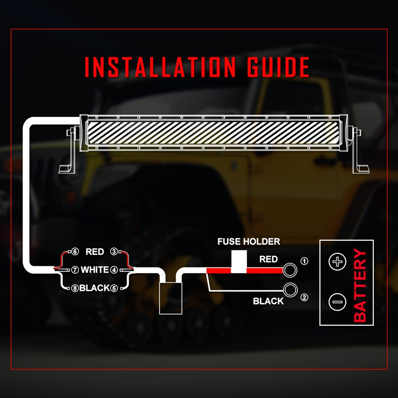 Dual Light Bar Wiring Harness Library Led Kit Wurton Harnessautofeel For Color Work
