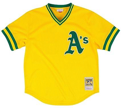 Mitchell   Ness Rickey Henderson Gold Oakland Athletics Authentic Mesh  Batting Practice Jersey Medium (40 92982ccab
