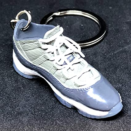 7d9ae94f2ed10d Amazon.com   Air Jordan XI 11 Retro Low Cool Grey OG Sneakers Shoes 3D  Keychain 1 6 Figure   Everything Else