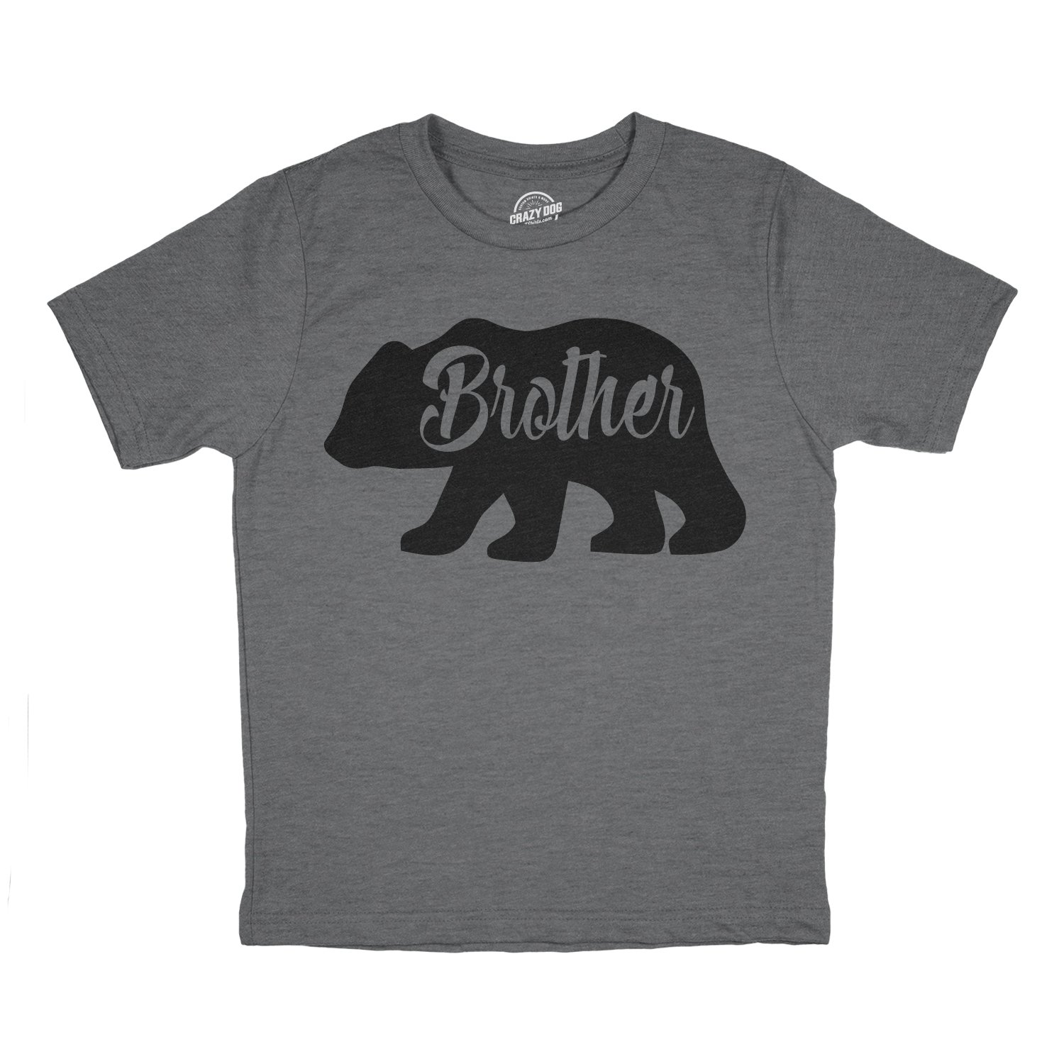 Toddler Brother Bear Tshirt Cute Funny Family Tee For Little Brother Crazy Dog Tshirts