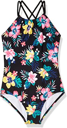 Kanu Surf Girls' Jasmine Beach Sport Halter One Piece Swimsuit