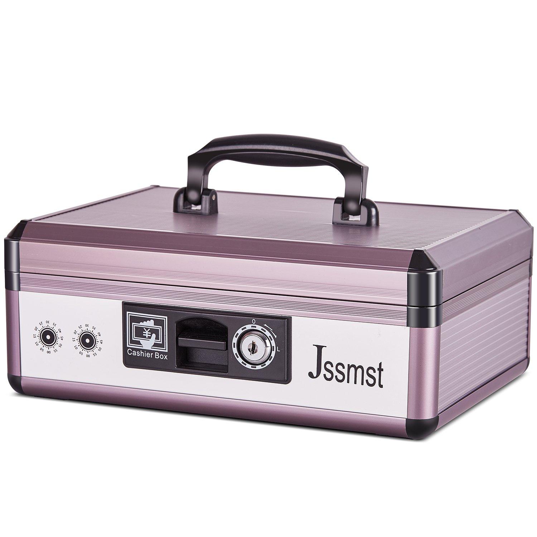 アルミポータブルロックキャッシュボックス – jssmstパーソナルセキュリティロックボックスwith Moneyトレイ L B073ZD33TZ  L