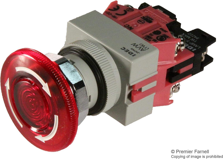 500 V Emergency Stop Switch 10 A DPST-NC Screw 500 V
