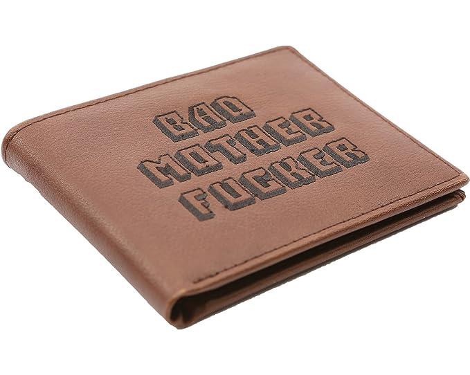 Amazon.com: Cartera plegable de cuero marrón para ...