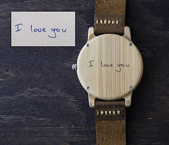 ad0fafe1a63d6 Amazon.com  Engraved Wooden Watch for Men Anniversary Gifts for Boyfriend  Gift Groomsmen Gift Personalized Wood Watch Birthday Gift for Him Custom  Watch  ...