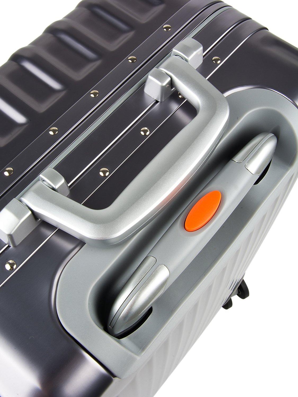 All Aluminum Luggage, HardShell Carry On Spinner Suitcase Grade 5 Aluminum-Magnesium Alloy TSA Approved 20'', Gunmetal by Clothink (Image #3)