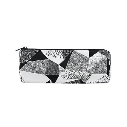Ahomy Estuches de lápices 3D negro y blanco geométrico ...