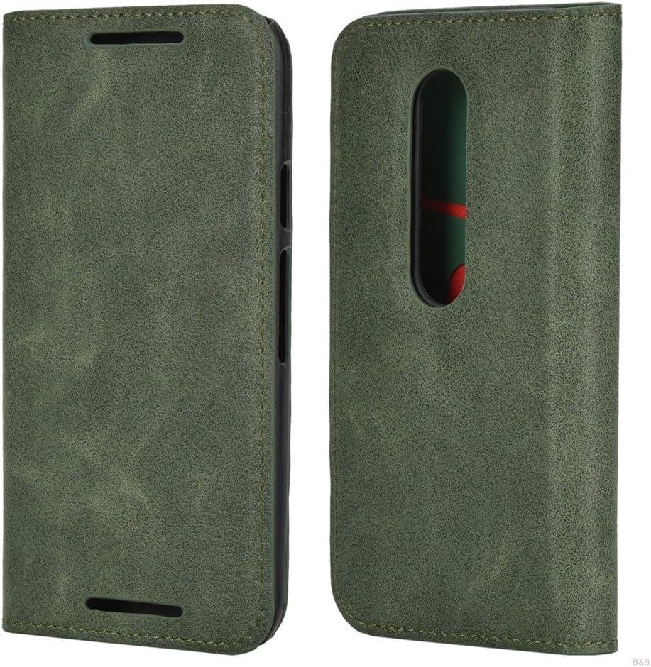Mulbess Funda Motorola Moto G 3rd [Libro Caso Cubierta] Slim de Billetera Cuero de la PU Carcasa para Motorola Moto G 3 Gen Case, Verde