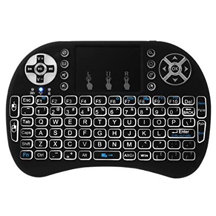 XCSOURCE Novedad con Luz de fondo Mini 3 en 1 Wireless teclado + Mouse +Touchpad ...