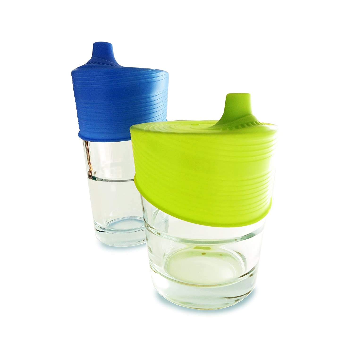 Silikids Siliskin Sippy Top, 2 Pack, Green, Blue, One Size SKSIPUNV
